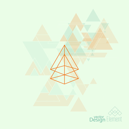 cd label: Abstract Background. Hipster Geometric shape, triangles. Modern Signs, Label. For cover book, brochure, flyer, poster, magazine, cd, website, app mobile, annual report, T-shirt, logo