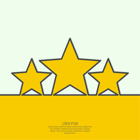 triumphant: Abstract background with gold stars. The highest award, recognition. minimal. Outline