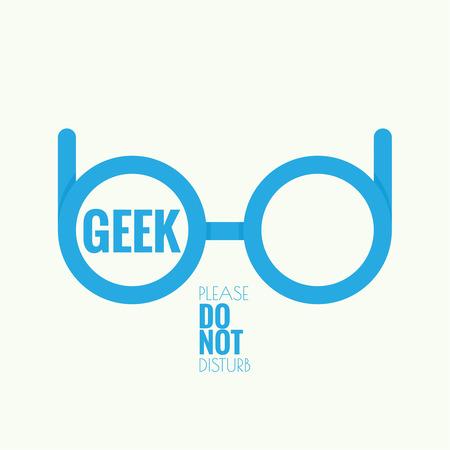 オタク眼鏡のアイコン。流行に敏感なおたくのスタイル  イラスト・ベクター素材