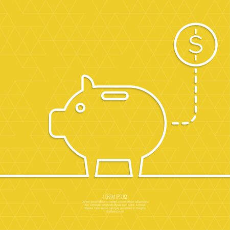 enhancement: Icon Pig piggy bank. Symbol of conservation and enhancement funds Illustration