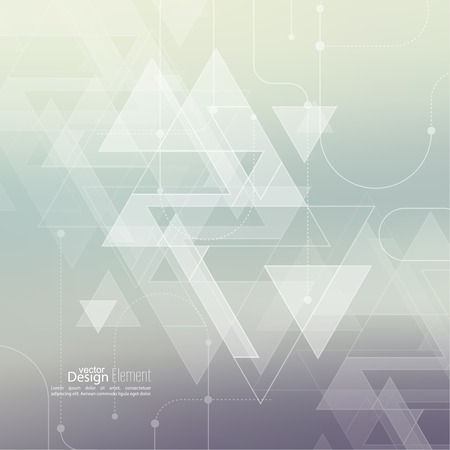 diamante: Fondo abstracto con triángulos inconformista. líneas de esquema y puntos. Patrón de Triángulo de fondo. Para libro de tapa, folleto, folleto, cartel, revista, diseño de portada de CD, camiseta