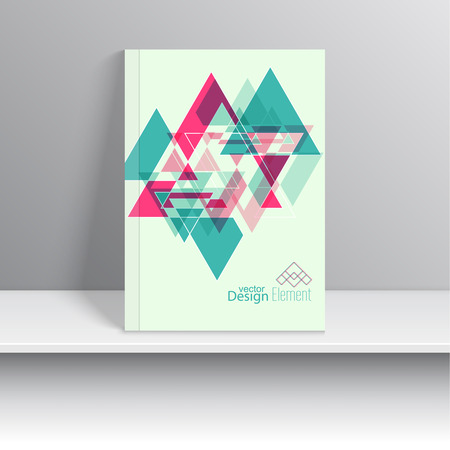 notebook design: Magazine Cover with  hipster  triangles.