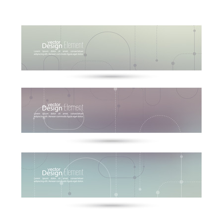 dotted lines: Vector banner with blurred abstract background with dotted lines, dots.
