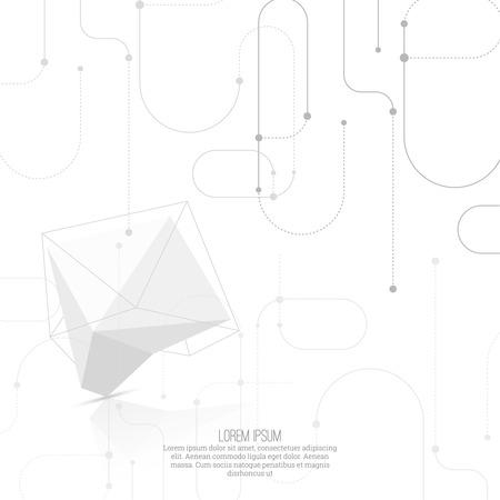solid figure: Abstract forma geometrica poligonale. low poly e stile minimal. illustrazione di vettore