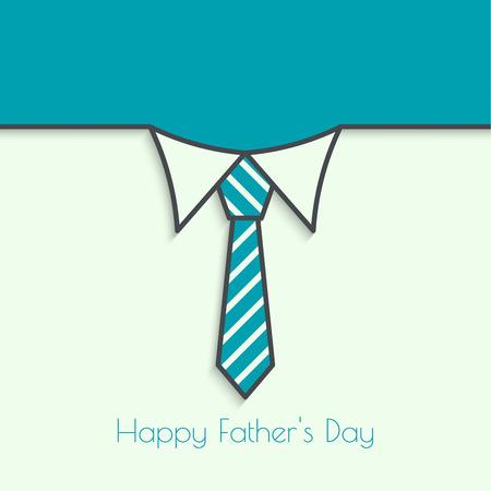 抽象的な背景の男性の関係。幸せな父の日。シャツの襟とネクタイ。お祝い、誕生日、ポストカード、結婚式の招待状の