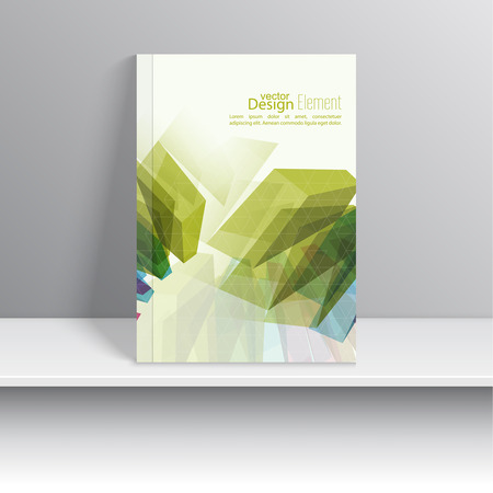 trellis: Magazine Cover with colored crystals, trellis structure. For book, brochure, flyer, poster, booklet, leaflet, cd cover design, postcard, business card, annual report. vector illustration. abstract background