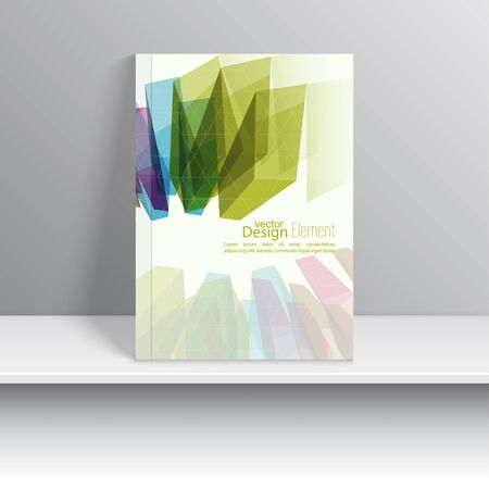 covering: Magazine Cover with colored crystals, trellis structure. For book, brochure, flyer, poster, booklet, leaflet, cd cover design, postcard, business card, annual report. vector illustration. abstract background
