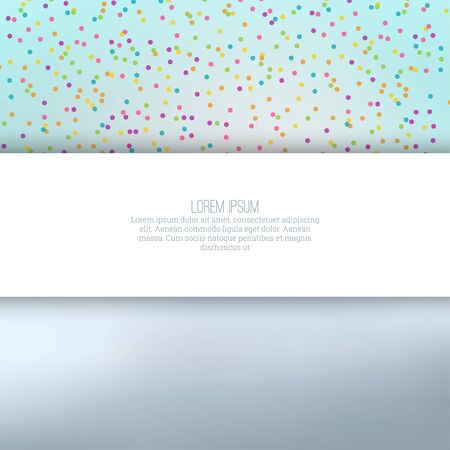 with space for text: Abstract background with multicolored confetti festive. Empty space for text