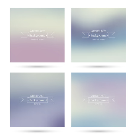 Set of vector colorful abstract backgrounds blurred. For mobile app, book cover, booklet, background, poster, web sites, annual reports. blue, turquoise, cream, red, violet, pink