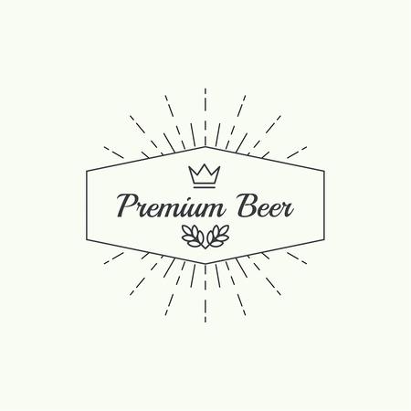 alcohol logo: Beer brewery emblems, logo, label, design element. For pub menu, bar, restaurants, signage. minimal. Outline Illustration