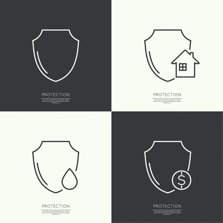 Set icons of protection.
