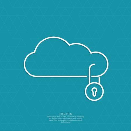 Secure cloud service. Safety in data transmission to the cloud. minimal. Outline. Illustration