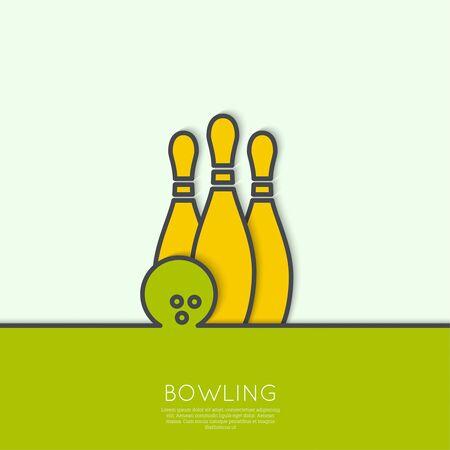 vintage: Bowling achtergrond.