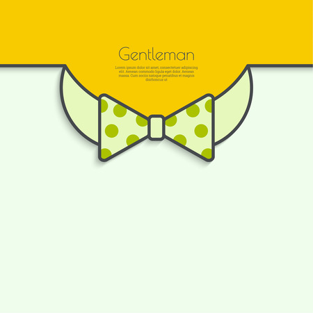 dresscode: Abstract background with bow tie.