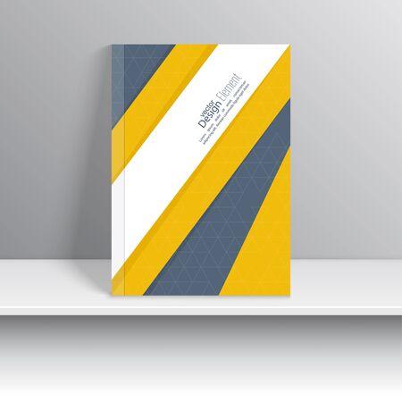 portada de revista: La portada de revista con cintas de intersecci�n origami. Para el libro, folleto, folleto, cartel, folleto, folleto, dise�o de portada de CD, tarjetas postales, tarjetas de visita, el informe anual. ilustraci�n vectorial. resumen de antecedentes