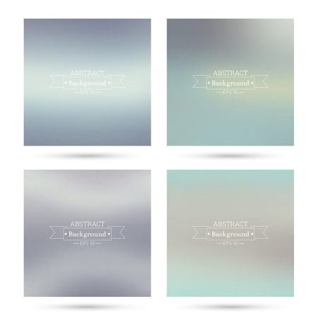 poster backgrounds: Set of vector colorful abstract backgrounds blurred. For mobile app, book cover, booklet, background, poster, web sites, annual reports. blue, turquoise, cream, violet, green
