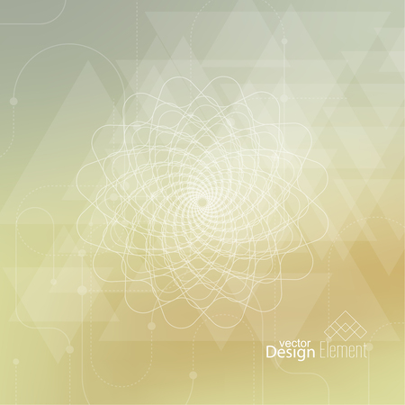 chakra awareness: Abstract neat Blurred Background with lines and dots, triangles. Glowing mandala spiral. Chakra. Self-knowledge in meditation. sacred soul. Higher cosmic mind
