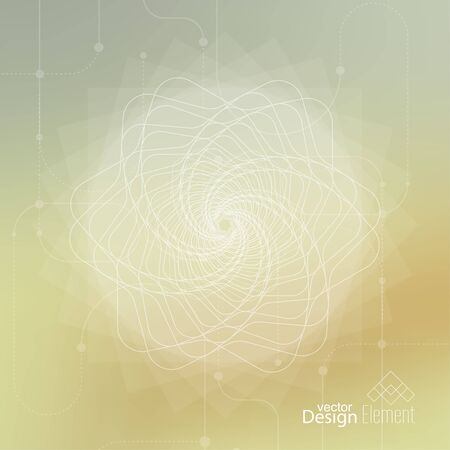 chakra: Abstract neat Blurred Background with lines and dots. Glowing mandala spiral. Chakra. Self-knowledge in meditation. sacred soul. Higher cosmic mind