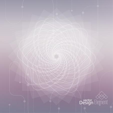 의식: Abstract neat Blurred Background with lines and dots. Glowing mandala spiral. Chakra. Self-knowledge in meditation. sacred soul. Higher cosmic mind