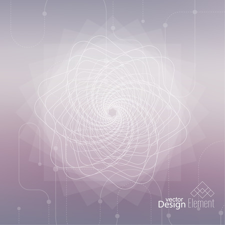 Abstract nette Vage Achtergrond met lijnen en stippen. Gloeiende mandala spiraal. Chakra. Zelfkennis in meditatie. heilige ziel. Hogere kosmische geest