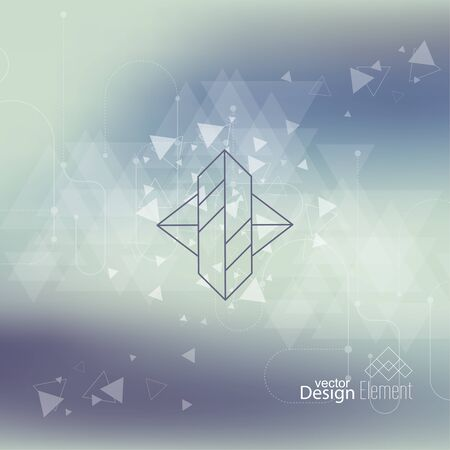 report: Abstract neat Blurred Background. Hipster Geometric shape, line and dot.  Illustration