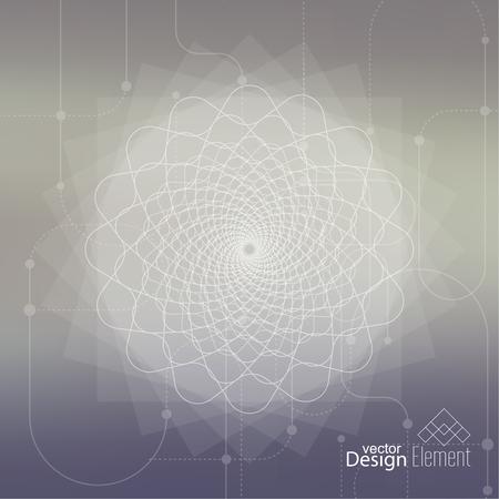 geometría: Fondo enmascarado aseado abstracto con líneas y puntos.