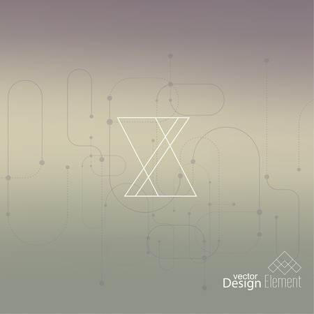 neat: Abstract neat Blurred Background. Hipster Geometric shape, line and dot.  Illustration