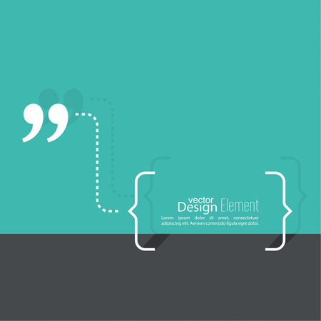 speech bubble: Quotation Mark Speech Bubble. Quote sign icon.  Flat design with shadow Illustration