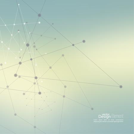 conexiones: Fondo enmascarado aseado abstracto con los puntos de la matriz y Líneas. Estructura de conexión. Geométrico Concepto tecnología moderna. Visualización de Datos Digital. Red Social. Degradado de color. Vectores
