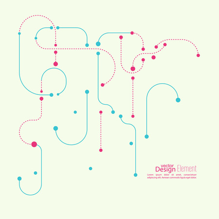 Abstract background with curved lines, dotted lines and dots. flat design. vector. For cover book, brochure, flyer, poster, magazine, CD cover design, website, app mobile, annual report, T-shirt