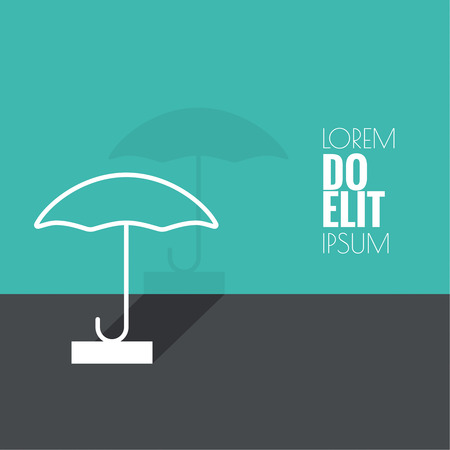 natural phenomena: Abstract background with open umbrella. Concept of protection and security, the rainy season. Spring, autumn, natural phenomena. vector. flat design. minimal. outline.