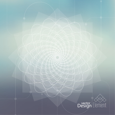 Abstract neat Blurred Background with lines and dots. Glowing mandala spiral. Chakra. Self-knowledge in meditation. sacred soul. Higher cosmic mind