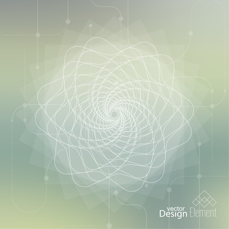 chakra awareness: Abstract neat Blurred Background with lines and dots. Glowing mandala spiral. Chakra. Self-knowledge in meditation. sacred soul. Higher cosmic mind