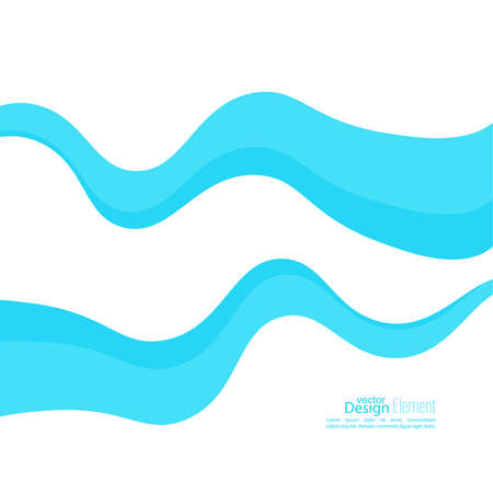 organic fluid: Abstract background with blue waves curving. Dynamics in motion