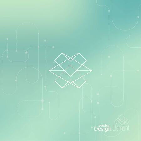 future technology: Abstract neat Blurred Background. Hipster Geometric shape, line and dot. Modern Signs, Label. For cover book, brochure, flyer, poster, magazine, cd, website, app mobile, annual report, T-shirt,
