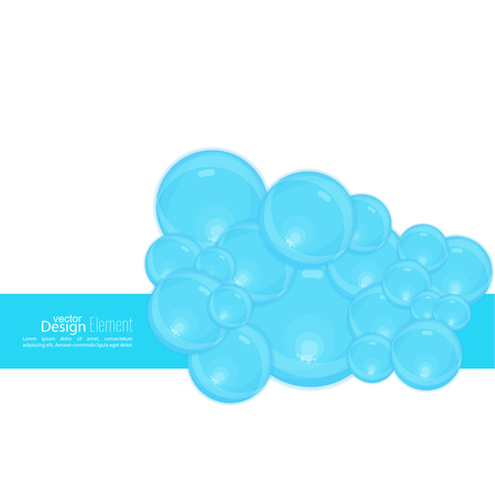bleb: Abstract background with waves of water and bubbles. The freshness and lightness. Natural product. Soap suds, washing, cleaning, lather.