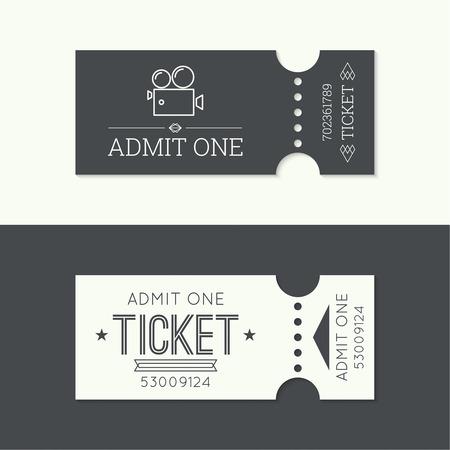 Eintrittskarte zum alten Vintage-Stil. Hipster . Geben Sie ein Theater, Kino, Zoo, Schwimmbad, Messe, Fahrgeschäfte, Schaukel, Vergnügungspark, Karussell. Symbol für Online-Buchung von Tickets. Web- und mobile App