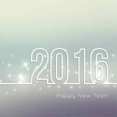 Abstract blurred vector background with sparkle stars. Happy New Year 2016. For decorations  festivals, xmas, glamour holiday, illuminated, celebration 일러스트