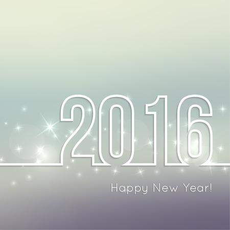 nowy: Streszczenie niewyraźne tło wektor z gwiazdami sparkle. Szczęśliwego Nowego Roku 2016. Dla ozdoby boże narodzenie, festiwale, glamour wakacje, oświetlenie, uroczystości Ilustracja