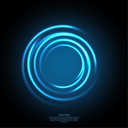 Fondo abstracto con remolino luminosa telón de fondo. Curvas de intersección. Glowing espiral. El túnel de flujo de energía. Vector