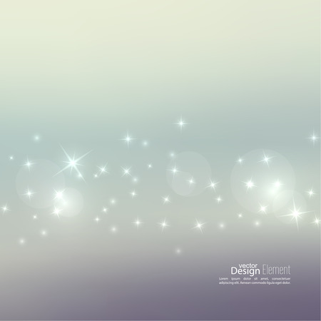 highlight: Abstract blurred vector background with sparkle stars. For decorations for Merry Christmas, New Year, anniversaries, festivals, birthday, xmas, glamour holiday, illuminated, celebration
