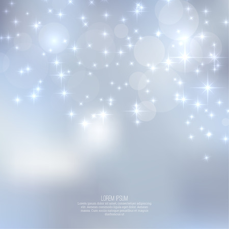 Abstract blurred vector background with sparkle stars. For decorations for Merry Christmas, New Year, anniversaries, festivals, birthday, xmas, glamour holiday, illuminated, celebration