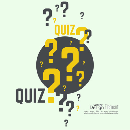 questionail: Quiz background. The concept is the question with the answer. vector.