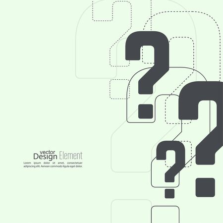 Question mark icon. Help symbol. FAQ sign on  background. vector