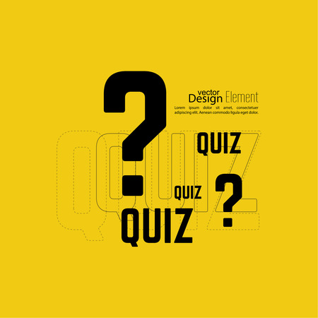 Quiz background. The concept is the question with the answer. vector.
