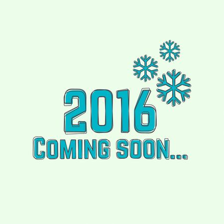 rime: creative happy new year 2016 design. Flat design.