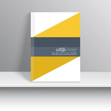 La portada de revista con cintas de intersección origami. Para el libro, folleto, folleto, cartel, folleto, folleto, diseño de portada de CD, tarjetas postales, tarjetas de visita, el informe anual. ilustración vectorial. resumen de antecedentes