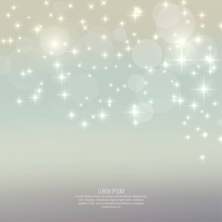 sparkle background: Abstract blurred vector background with sparkle stars. For decorations for Merry Christmas, New Year, anniversaries, festivals, birthday, xmas, glamour holiday, illuminated, celebration
