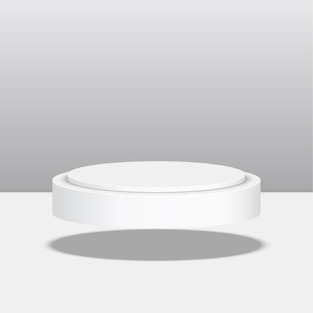 3d circle: Round floating pedestal for display. Platform for design. Realistic 3D empty podium Illustration