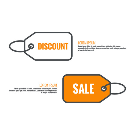 Tag and label icon. sale, discounts, specia offer,l Black Friday. Pictogram icon. Ilustracja